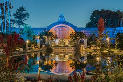 Balboa Park Botanical Building. Early morning shot of the Botanical Building at Balboa Park, San Diego Royalty Free Stock Photography