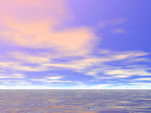 Early Morning Sky. Warm clouds over the sea Royalty Free Stock Photos