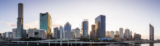 Early morning skyline of Brisbane, Australia Royalty Free Stock Photo