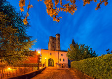 Early morning in Small italian town. Royalty Free Stock Images
