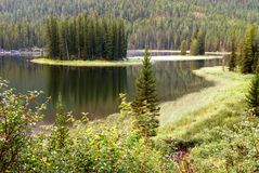 Early morning on small lake Royalty Free Stock Photography
