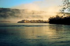 Early morning on a small but very beautiful river. stock photography