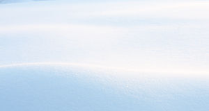 Early Morning Snowdrift Stock Images