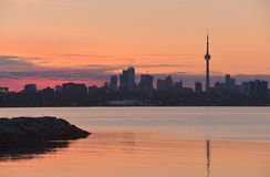 Early morning spring drama Toronto Royalty Free Stock Photography