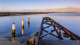 Early morning at St Kilda. Ann early morning view across a bay at St. Kilda neighbourhood in Melbourne, Australia Royalty Free Stock Photos