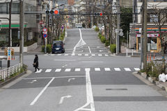 Early morning street in tokyo. Stock Image