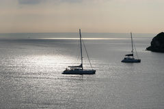 Early morning sun over Palma Bay. Royalty Free Stock Photos