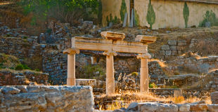 Early morning sunlight at the antique ruins Royalty Free Stock Photo