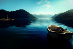 Early morning sunrise in Bay of Kotor,  Montenegro Stock Image