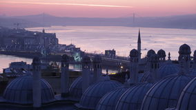 Early morning before sunrise in Istanbul stock footage
