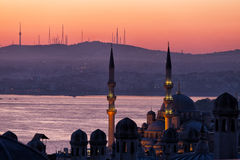 Early morning before sunrise in Istanbul, Stock Photography