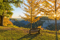 Early Morning Sunrise At Letchworth State Park Stock Image