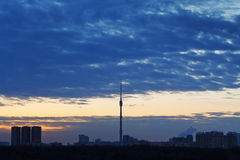 Early morning sunrise in Moscow Royalty Free Stock Images