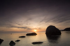 Early morning sunrise over the sea Royalty Free Stock Image