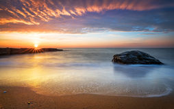 Early morning, sunrise over sea. Royalty Free Stock Image
