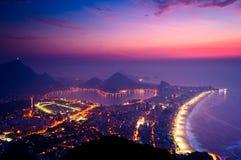 Early Morning Sunrise in Rio de Janeiro Stock Image