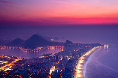 Early Morning Sunrise in Rio de Janeiro Royalty Free Stock Photos