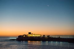 Early morning sunrise sky in Malta. Stock Image
