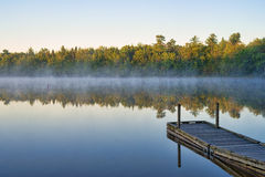 Early morning sunrise at Toddy Pond, Maine Stock Photography