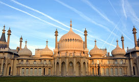 Early Morning Sunshine on The Royal Brighton Pavilion. Royalty Free Stock Image