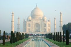 Early morning at Taj Mahal in Agra,India Stock Images