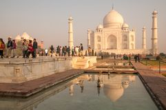 Early morning at Taj Mahal stock photo
