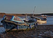 Early Morning, tides out, Harbour scene. Stock Images