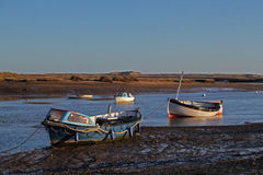 Early Morning, tides out, Harbour scene. Royalty Free Stock Photos