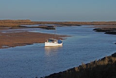 Early Morning, tides out, Harbour scene. Royalty Free Stock Images