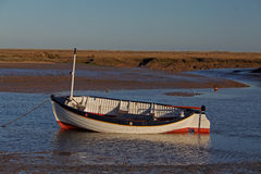 Early Morning, tides out, Old boat  scene. Royalty Free Stock Photography