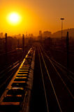 Early Morning Train Stock Photography