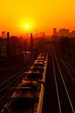 Early Morning Train Stock Photo