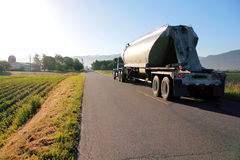 Early Morning Trucking Stock Image