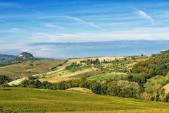 Early morning on Tuscany Stock Photo