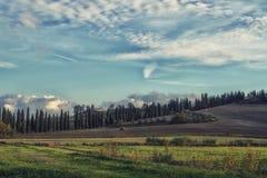 Early morning on Tuscany Stock Image