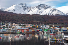 Early morning in Ushuaia, Patagonia, Argentina stock images