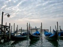 Gondolas and San Giorgio Maggiore, Venice, Italy. Royalty Free Stock Photography