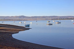 Early morning view of boat slipway on Midmar dam Stock Photography