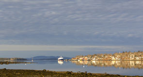 Early morning view of Castine, Maine Royalty Free Stock Photos