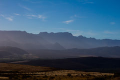Early morning view of Cederberg mountains Royalty Free Stock Images