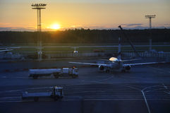 A early morning view of Domodedovo Airport. Royalty Free Stock Photo