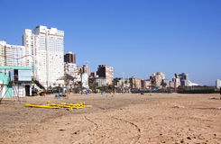 Early Morning View of Empty Beach in Durban Stock Photos