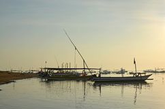 Early Morning Fishing Fleet at Sanur, Bali Indonesia Stock Image