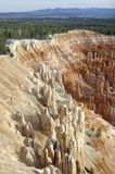 The Amphitheater's edge from Inspiration Point in Bryce Canyon National Park. stock photo