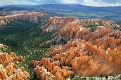 An early morning view from Inspiration Point in Bryce Canyon National Park, UT. stock images