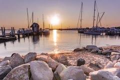 Early morning view of the marina royalty free stock photos