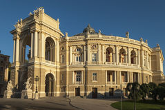 Early Morning View of the Odessa Opera House Royalty Free Stock Images