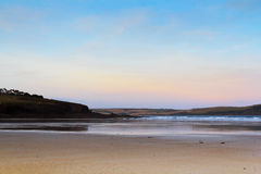 Early morning view over the beach at Polzeath Royalty Free Stock Images