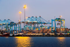 Early morning view of  Port of Algeciras. One of  largest ports in Europe. Spain Stock Photos
