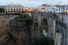 Early morning view of Ronda with Puente Nuevo Stock Images